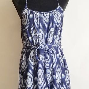 Forever 21 Hi- Lo dress in blue and white